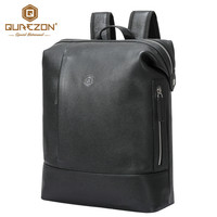 Waterproof Nylon And Genuine Leather Men Backpack Business Computer Backpack Bag 13 Inch Men S Laptop