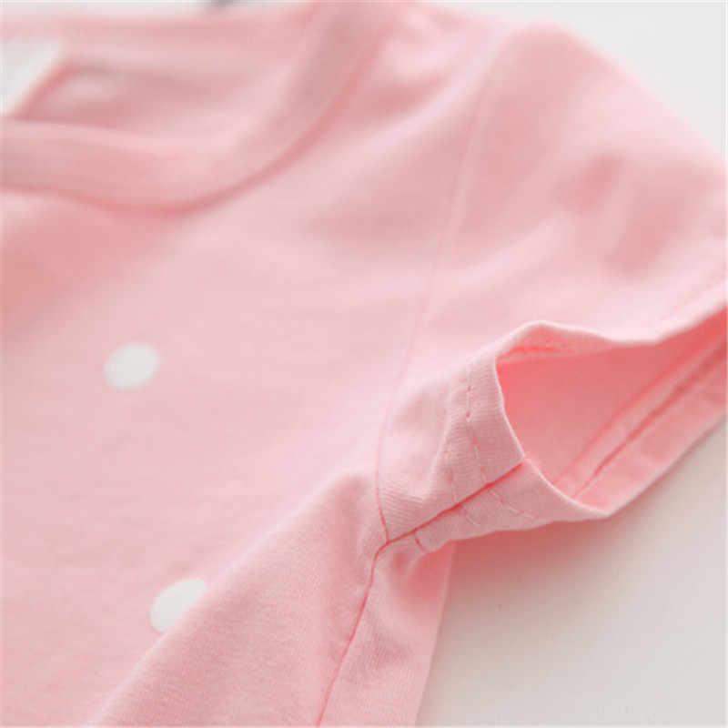 2019 ベビーガール Tシャツトップス綿ショーツ tシャツカジュアル女の子の夏の服誕生日女の赤ちゃんシャツ服