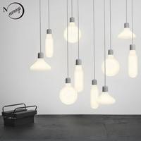 Nordic moderne roman einzigen kopf anhänger lampen E27 led hängen licht für küche wohnzimmer schlafzimmer studie restaurant fenster cafe-in Pendelleuchten aus Licht & Beleuchtung bei