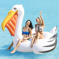 220cm Giant Pelican Pool Float Toucan Ride On Swimming Ring Beach Party Inflatable Tube Fun Toys Adult Air Mattress Boia Piscina