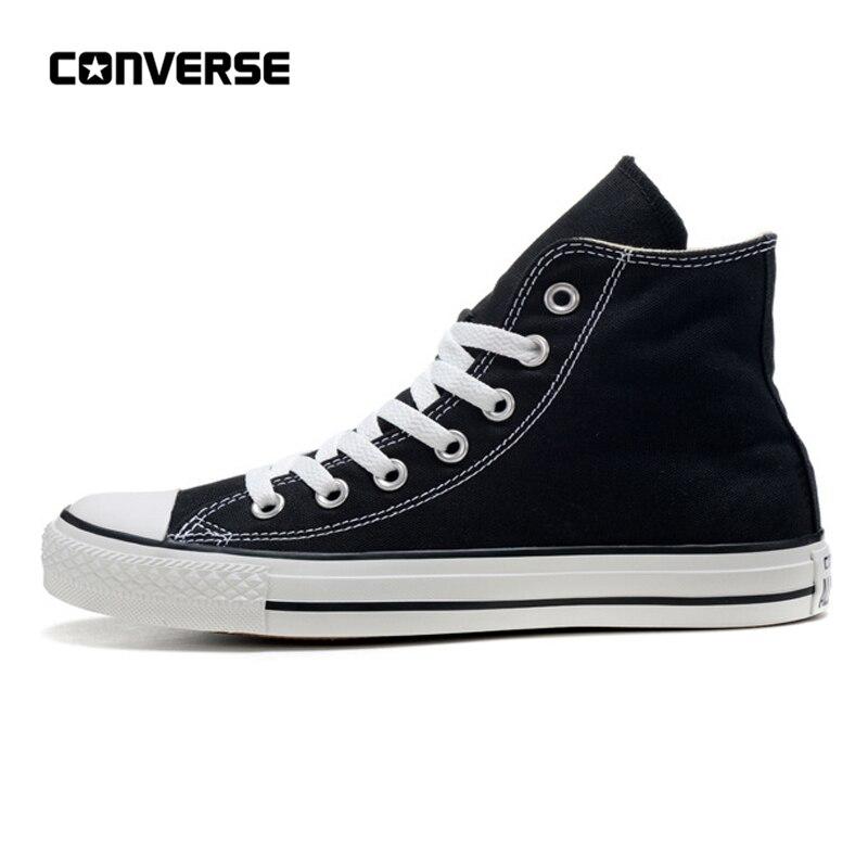 Converse All Star chaussures homme et femme haut classique unisexe noir Sneakers chaussures de skate 35-44