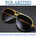 2017 de alumínio e magnésio-liga Retro Clássico óculos de sol da moda óculos de sol óculos polarizados condução espelho