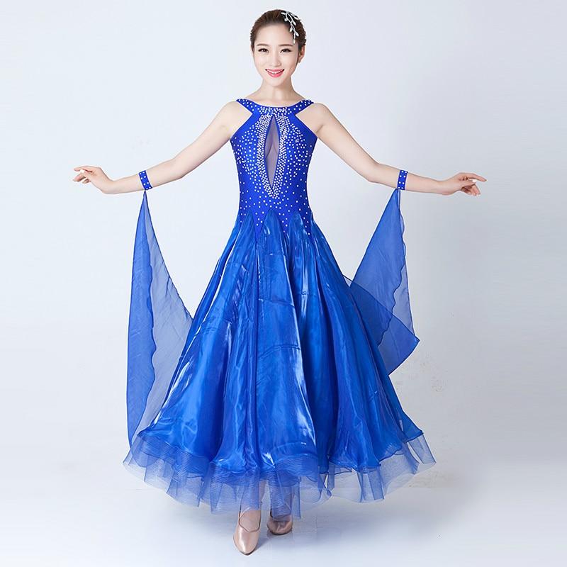 Ballroom Waltz Tango Spanish Flamenco Dance Dress Standard Ballroom Dress Multicolor Modern Dance Dance Dress for Adult Women