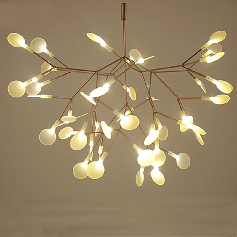 Nordic Art Minimalist Chandelier Concise Tree Leaves Coffee Shop Bar LED Hanging Light Fixtures With LED Bulbs Free Shipping nordic post modern denmark creative chandelier art crown bar coffee shop decoration light dining lights with led bulbs