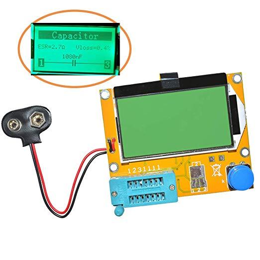 Diode Triode Capacitance ESR Meter MOS PNP LCR-T4 Transistor Tester LCD Display Mega328 Transistors Diodes Acrylic Case