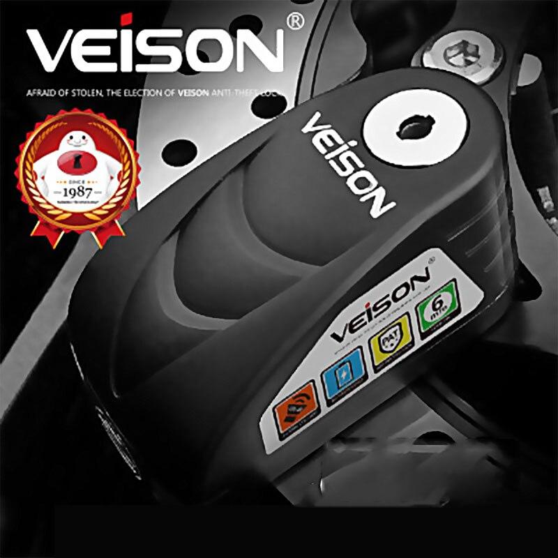VEISON 盗難防止バイクディスクブレーキロックアラーム南京錠ブレーキディスクロック自転車警告安全スクーターロック 120dB 防水  グループ上の 自動車 &バイク からの 盗難防止 の中 3