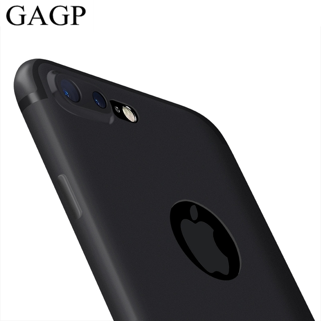 buy popular f2694 ecab9 US $1.39 20% OFF for iphone 7 plus iphone X Case Silicon Thin Soft Matte  Back Cover Black Coque Case for iphone 7 plus for iphone 6s 6 Plus Cases-in  ...