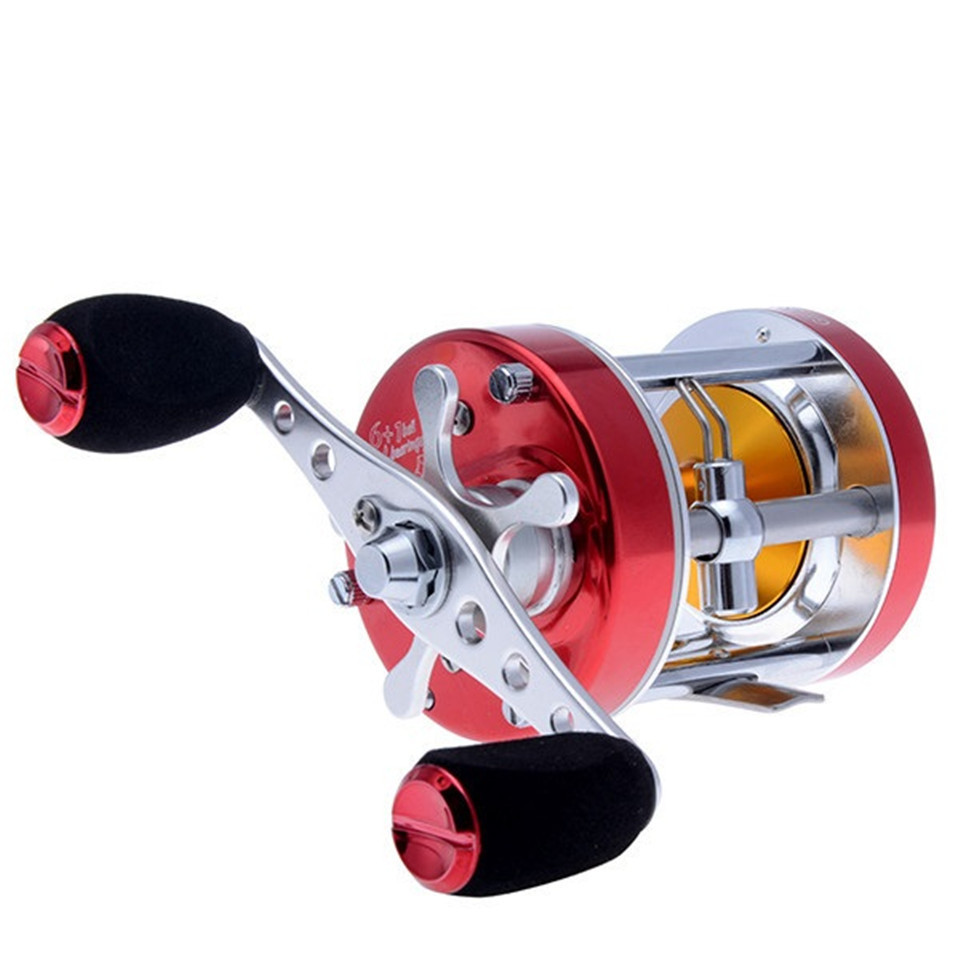 ФОТО NEW! (Right Hand)  6+1BB 5.3:1 Saltwater Fishing Reels Full Metal Ocean Boat Fishing Wheel Gear Drum Fishing Reel Blackbass