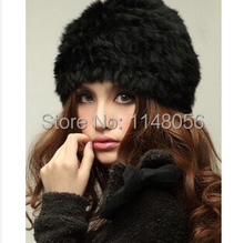 Wholesale cheap 100 100 genuine rabbit fur hat women s winter hats fashion real rabbit fur