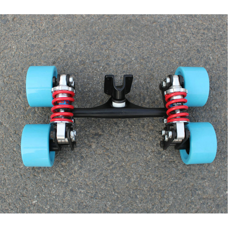 Electric Skateboard Truck Aluminum Bridge New 4 wheels skateboard bridge long board truck electric skateboard truck wheels 6 5 adult electric scooter hoverboard skateboard overboard smart balance skateboard balance board giroskuter or oxboard