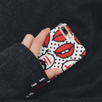 For IPhone 6 7 6s 6plus Pretty Woman Phone Cases Red Lip Finger Grip Holder Stander