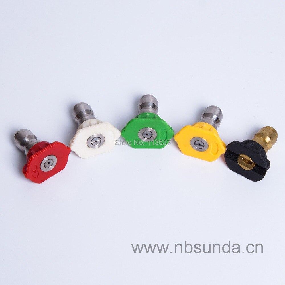 (5pcs Per Set) Spray Tip Set, High Pressure Washer Spray Nozzle
