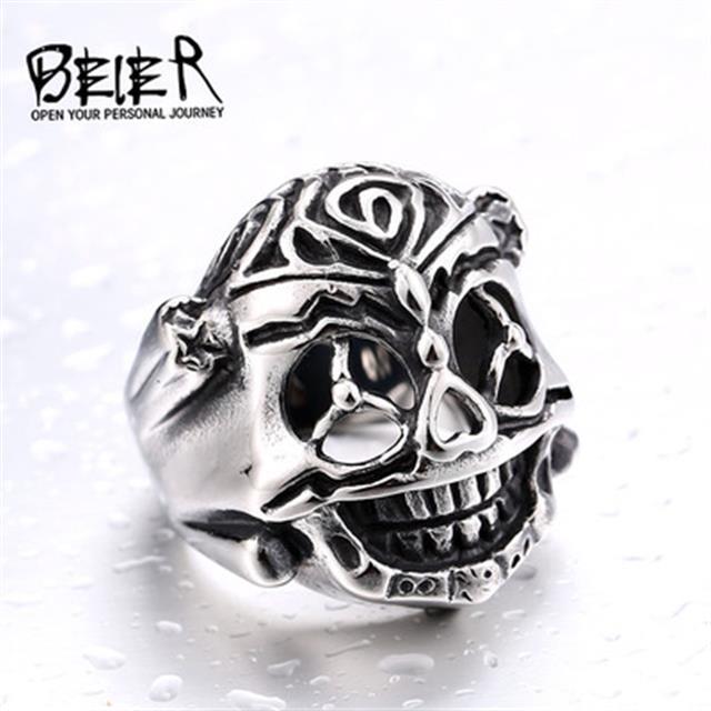brand jewelry head skull mens bikers jewelry stainless steel skull