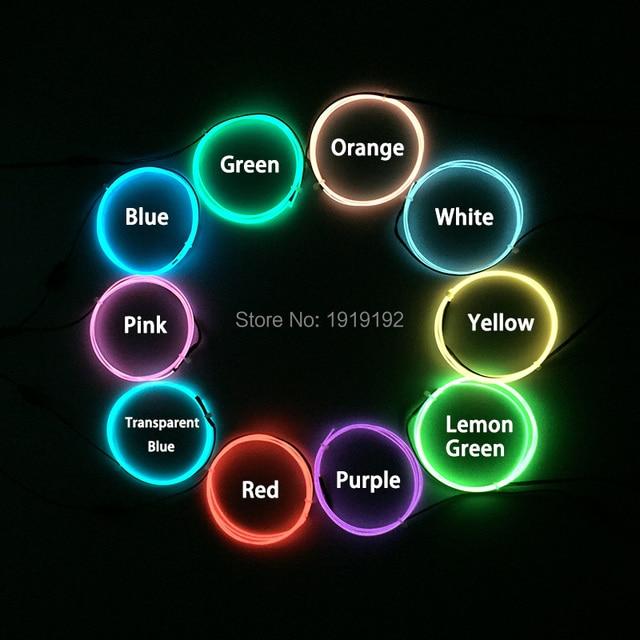 Viele arten 1 Meter 1,3mm multicolor Flexible Led Neon gewinde licht ...
