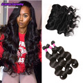 ear to ear body wave full lace frontal with 3 bundles Peruvian human hair goode women 100% virgin hair with full lace front