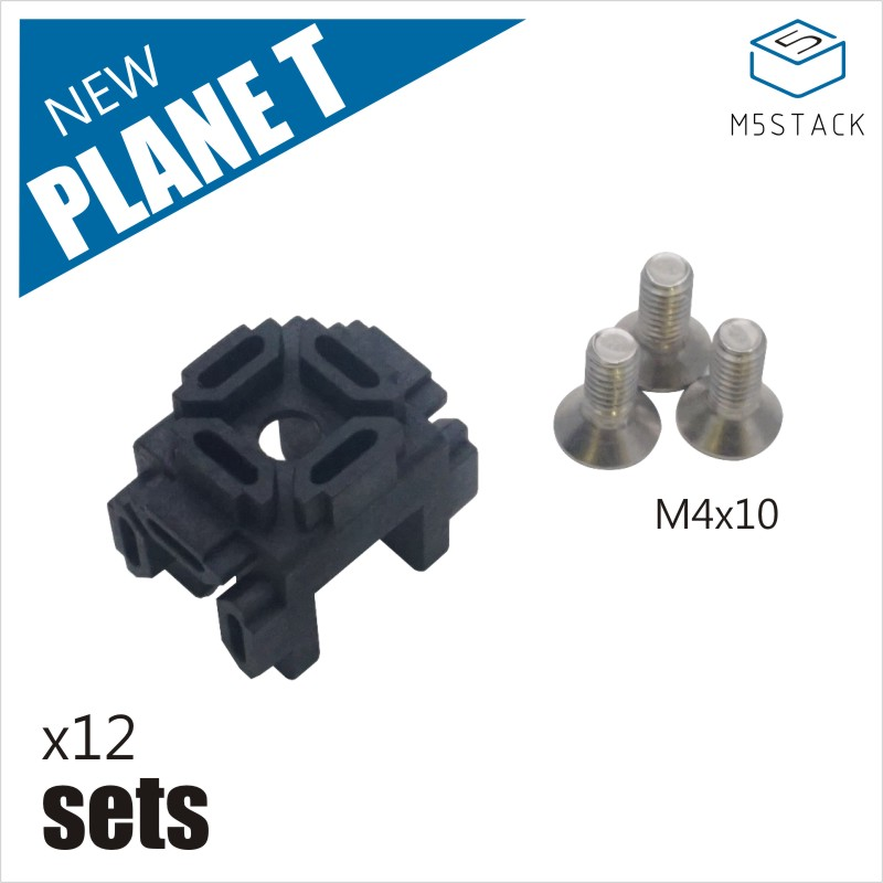 M5Stack NEW Plane T Plastic Corner Connector For 1515 Aluminum Profile 12 Sets With 36 M4 Screws