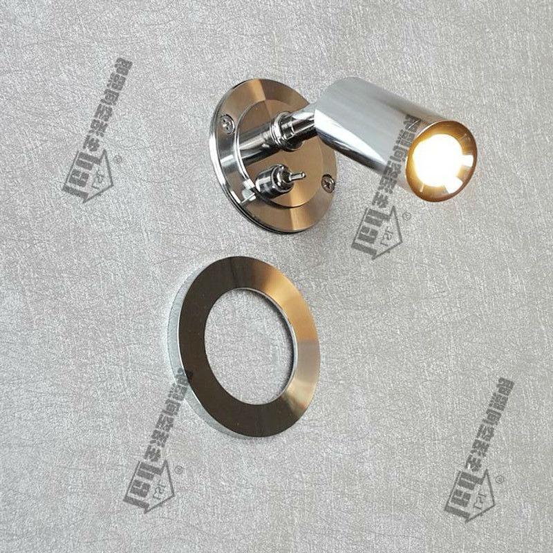 Встраиваемые Освещение над кроватью чтения AC100-240V DC 12 В 24 В качество Компоненты здоровый и комфортный Свет хромированная отделка