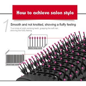 Image 4 - 3 ב 1 שיער מסלסל מחליק מברשת שיער מייבש קרלינג מיישר ברזל מברשת שלילי יון אוויר חם מסרק שיער Styler מסרק