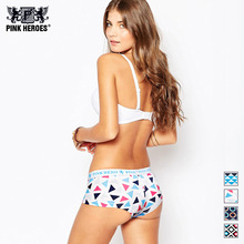 Pink Heroes New Women's Underwear Briefs Gorgeous Color Printing Women Underwear Cotton Lingerie Sexy Briefs Factory Wholesale(China)