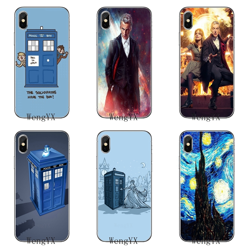 Half-wrapped Case Doctor Who Tardis Box Slim Silicone Tpu Soft Phone Cover Case For Apple Iphone X Xr Xs Max 8 7 6 6s Plus 5 5s 5c Se 4 4s For Improving Blood Circulation