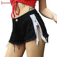 Loose Women Side Zipper Denim Shorts High Waist Tassel Denim Shorts Female Summer Jeans Short #072