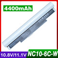 4400mAh laptop battery for SAMSUNG N110 N120 N140 N270B N510 NC10 NC20 NP AA-PB6NC6W AA-PB6NC6W/US AA-PB8NC8B AA-PL8NC6W