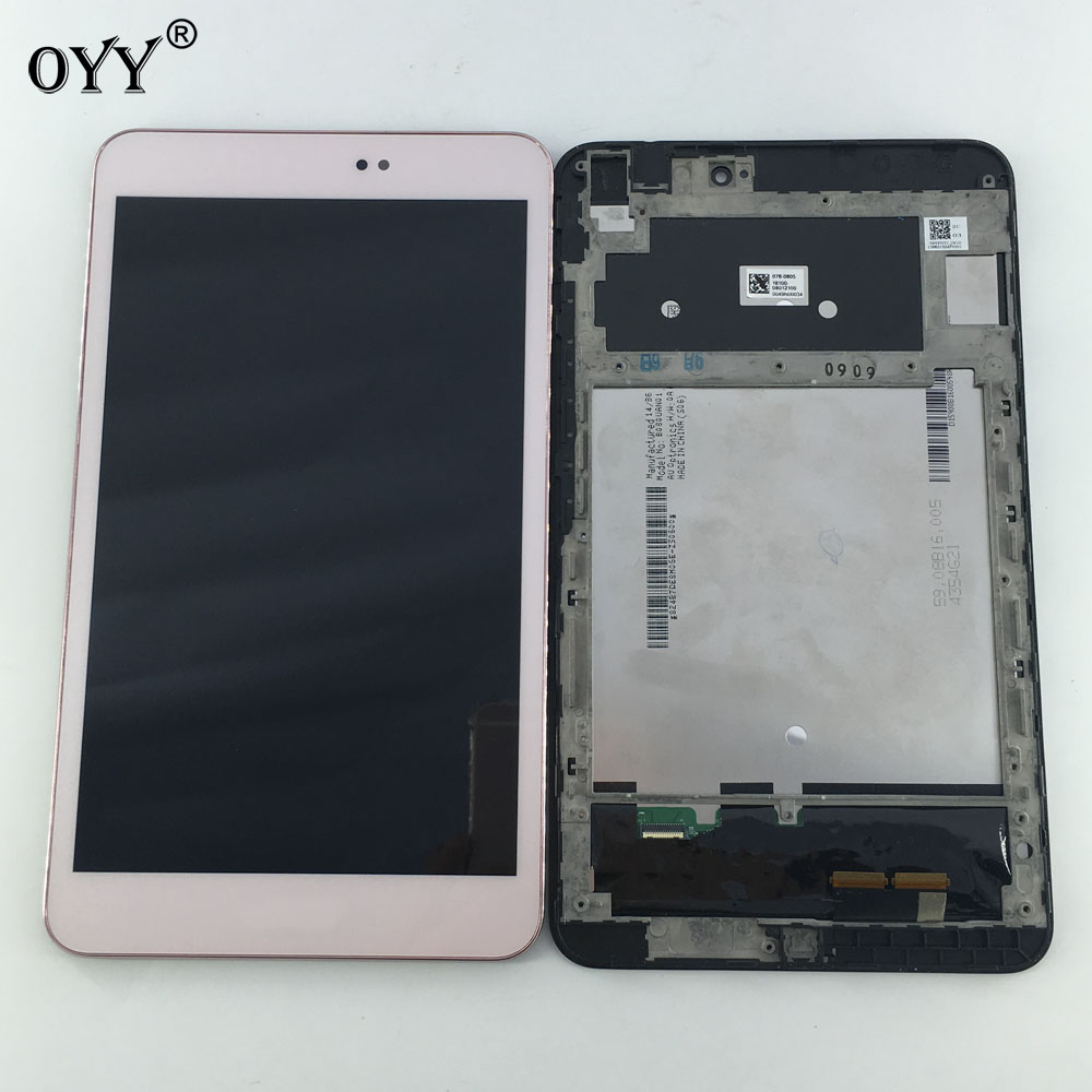LCD Display Panel Screen Monitor Touch Screen Digitizer Glass Assembly with frame for Asus Memo Pad 8 ME581 ME581C ME581CL K015 free shipping touch screen with lcd display glass panel f501407vb f501407vd for china clone s5 i9600 sm g900f g900 smartphone