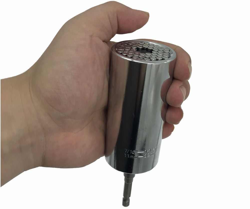 """큰 유니버설 소켓 슬리브 11-32mm 1/2 """"토크 렌치 세트 파워 드릴 래칫 부싱 스패너 게이터 매직 그립 멀티 핸드 툴"""