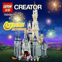 LEPIN 16008 Creator Cinderella Princess Castle City 4080pcs Model Building Minifigures Block Children Toy Gift Compatible 71040