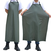 021059 Dark Green Compound Double Apron Waterproof PVC Apron Thickening Oil Weak Acid And Alkali Resistant