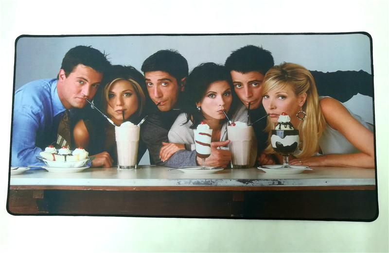 TV Show Friends Big Mouse Pad Mat Laptop Desktop Table Mat They Drinking Gaming Mouse Mat Halloween Cosplay Christmas Gift