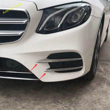 Lapetus Front Fog Lights Lamp Eyelid Eyebrow Decoration Strip Cover Fit For Mercedes-Benz C Class W205 2019 ABS yimaautotrims auto accessory front fog lights lamp eyelid eyebrow cover trim for mercedes benz c class w205 sedan 2015 2018