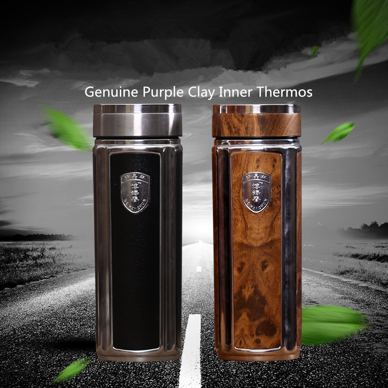 Genuine Purple Clay insulated Thermos Bottle Thermo cup with Stainless Steel Coffee Mugs water bottle 360ml