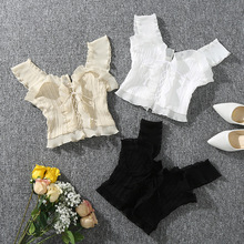 Fashion New Summer Autumn Bustier White Black Tank Top Female Sexy Bandage Sleeveless Crop Zipper Woman Clothes sexy tops