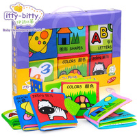 Itty Bitty High Quality Squeaky Rattle Teether Soft Cloth Books For Babies Infant Baby Toys