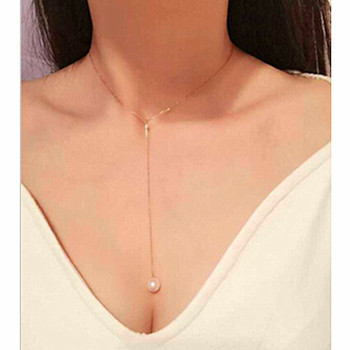 x9 Elegant Lady Simulated Pearl Choker Long Pendant Necklaces 1