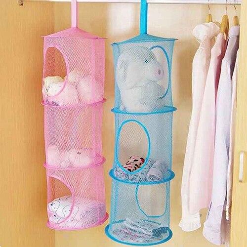 NEW Shelf Hanging Storage Net Kids Toy Organizer Bag Bedroom Wall Door Closet