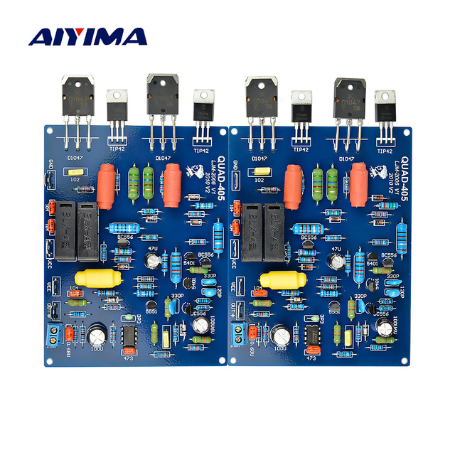 AIYIMA Assembled QUAD405 100W+100W Audio Power Amplifier Board 2 Channels DIY KIT