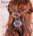 Nova chegada cristal borboleta Hairpin grampo de cabelo para mulheres moda acessórios de cabelo
