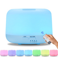 GRTCO Remote Control 300ML Ultrasonic Air Aroma Humidifier With 7 Color Light Electric Aromatherapy Essential Oil