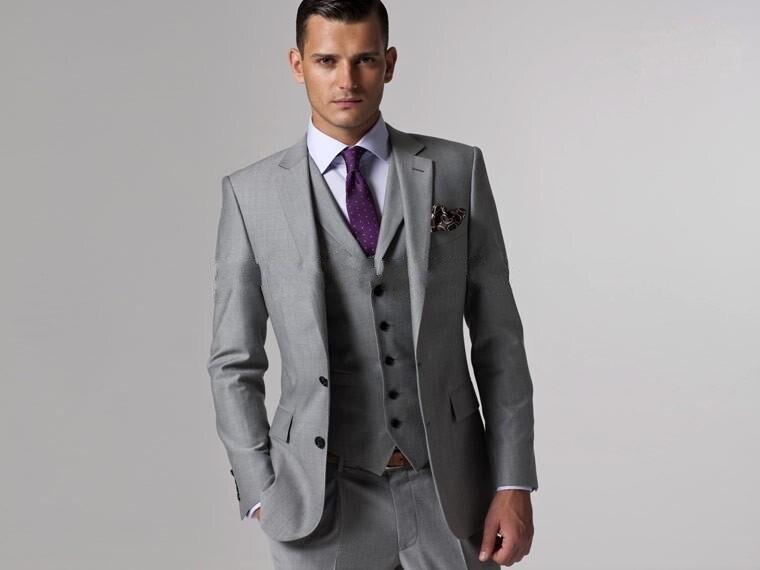 Custom Made Woolen dark brown Herringbone Tweed British style Mens suit tailor slim fit Blazer wedding men suit 3pcs in Suits from Men 39 s Clothing