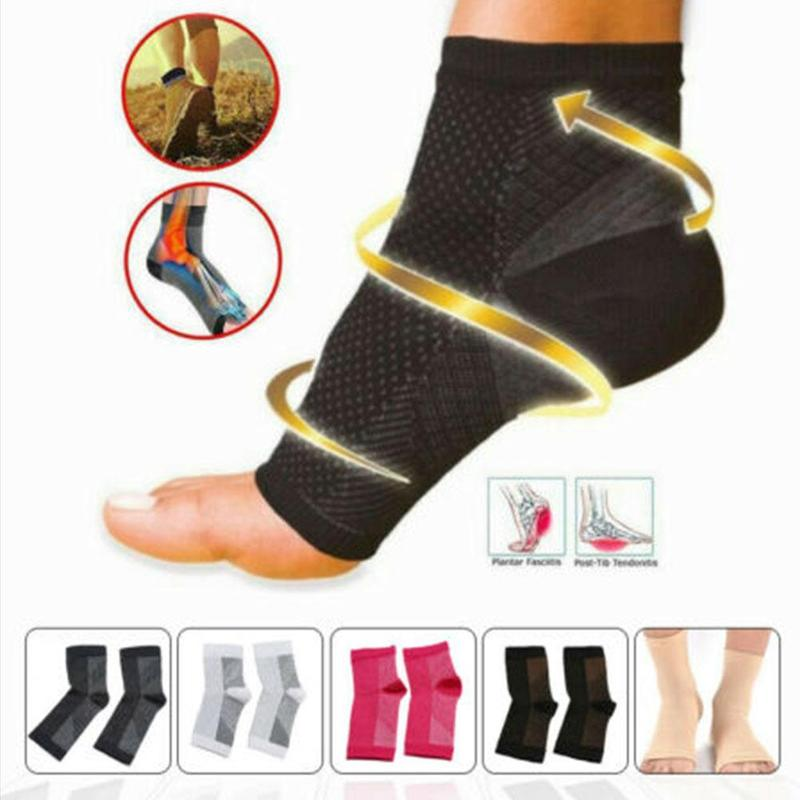Foot Anti Fatigue Compression Foot Sleeve Ankle Support Running Cycle Basketball Sport   Socks   Outdoor Men Ankle Brace   Sock