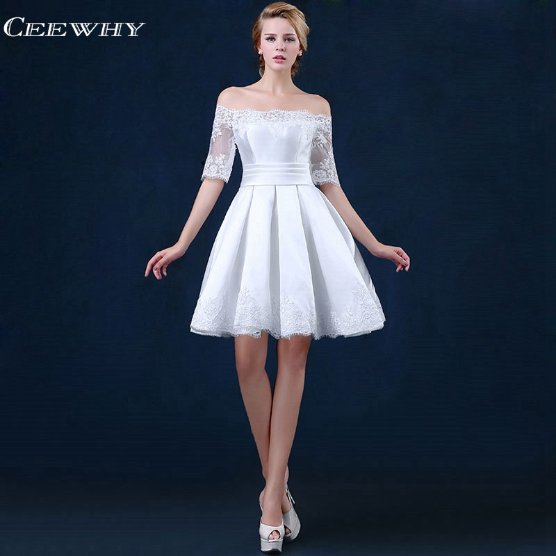 3614 41 De Descuentoceewhy Vestidos Dama De Honor Blanco Vestido De Fiesta De Boda Elegante Vestidos De Dama De Honor Vestidos Cortos Para Mujeres