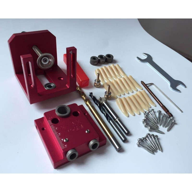 Woodworking Inclined Hole 3 In 1 Puncher Woodworking Tools Roundwood Tenon Roundwood Tenon Punching Drilling Set Locator