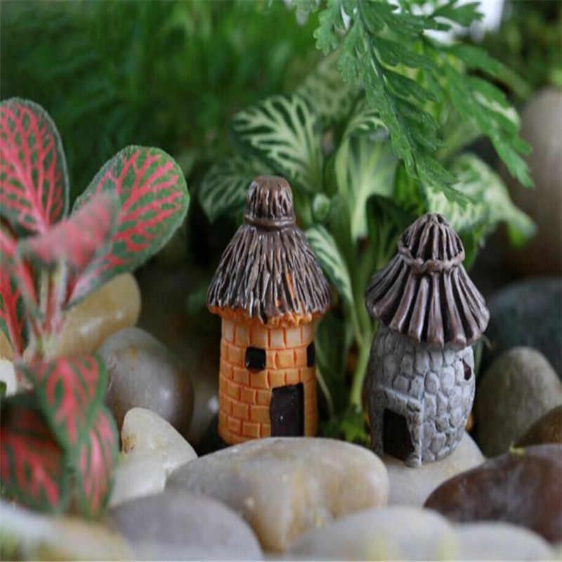 Panas Mini Bulat Kartun Ekspresi Rumah Resin Dekorasi untuk Rumah dan Taman DIY Mini Kerajinan Cottage Lanskap Dekorasi 50 P