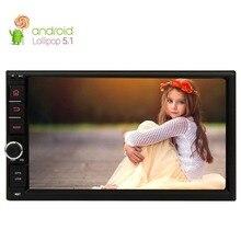 Android 5.1 Piruleta 2 Din Car Stereo Radio Navegación GPS HD1024 * 600 Quad Core de 7 pulgadas 2 Din Unidad Principal SIN Apoyo Reproductor de DVD DAB +