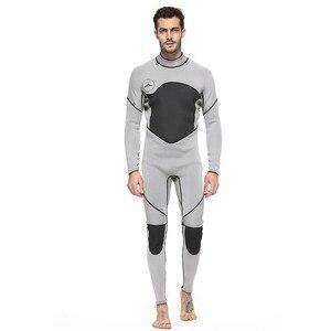 Image 2 - Męskie kombinezon na całe ciało, 3mm męskie neoprenowy długi rękaw kombinezon nurkowy idealny na pływanie/nurkowanie z akwalungiem/Snorkeling/Surfing Orange