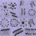 50 Unids/lote 10 Estilos Negro Lengua Del Vientre del Labio de la Ceja Septum Nariz Cartílago Barbell Anillos Body Piercing Joyería Al Por Mayor