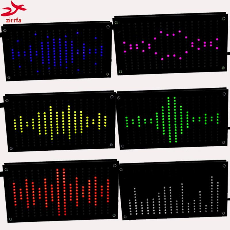 Led Diy Music Spectrum Display Big Size 256 Segment Sound Led Music Spectrum Electronic Diy Led Flash Kit 6 Colors ask11 sector pointer level indicator vu table led music spectrum electronic diy kit