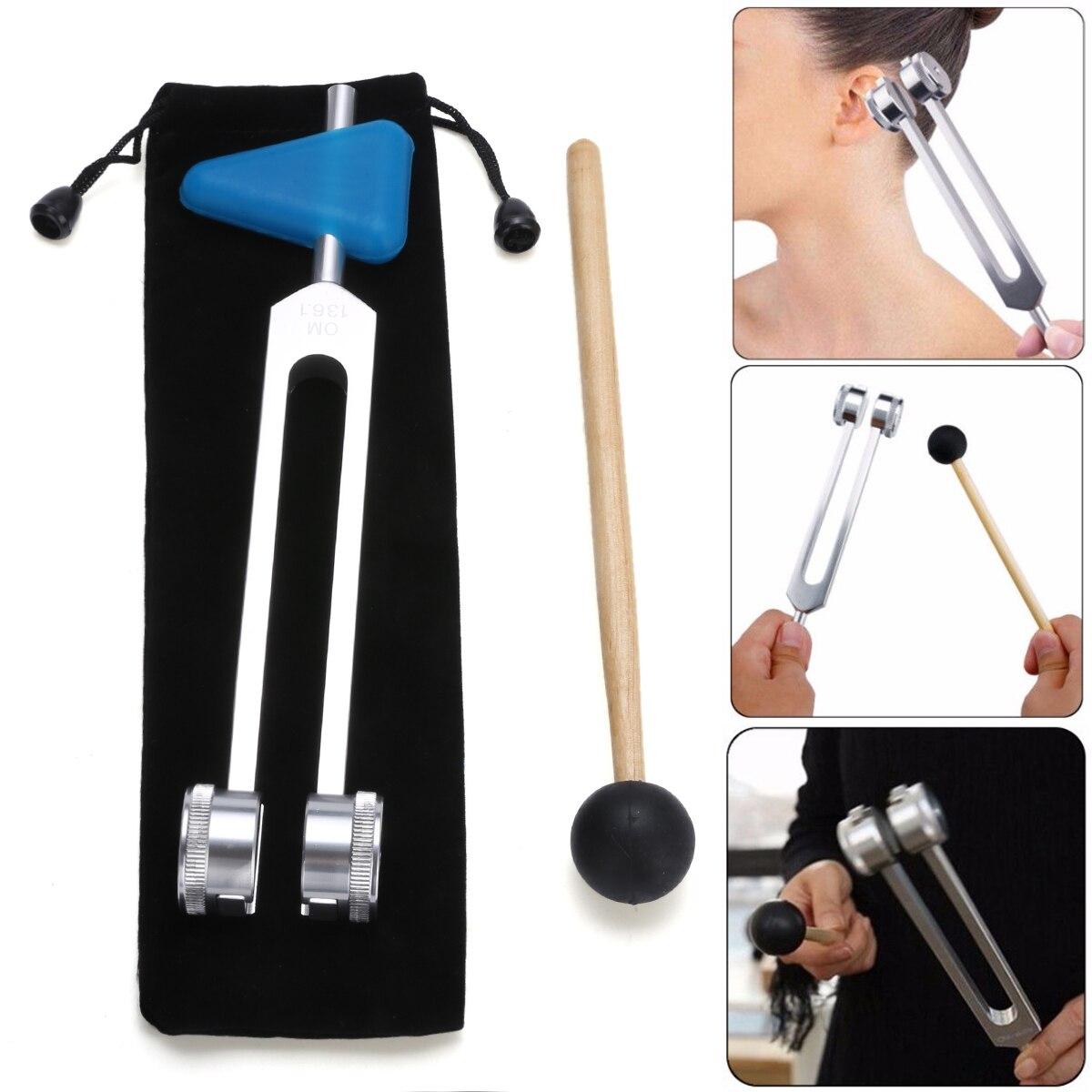 Angemessen Om 136,1 Hz Aluminium Legierung Musical Tuning Gabel Instrument Kit Für Sound Heilung Sound Vibration Therapie Medizinische Werkzeuge Gesundheit Effektiv StäRken